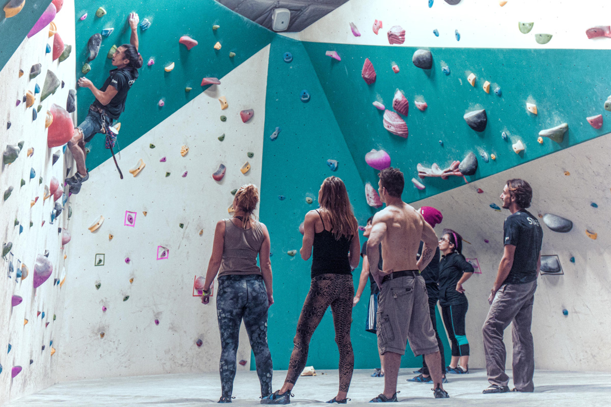 Indoor rock climbing gym grotto climbing yoga san diego